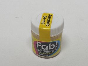 Pó para Decoração 3g Cintilante Amarelo Gema, Medidas: 3 x 3 x 2.9 cm