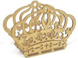 Porta Guardanapo Coroa MDF 3mm - Cod. 821