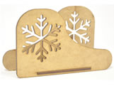 Porta Guardanapo Floco de Neve MDF 3mm - Cod. 819