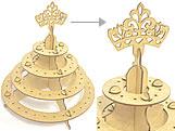 Porta Pirulito 4 Andar Coroa Princesa MDF 3mm (80 furos) - Cod. 1167