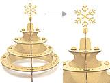 Porta Pirulito 4 Andar Floco de Neve MDF 3mm (80 furos) - Cod. 1159