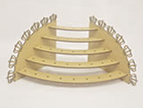 Porta Pirulito Escada Oval Coroa MDF 3mm (35 furos) - Cod. 1176