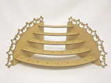Porta Pirulito Escada Oval Estrela MDF 3mm (35 furos) - Cod. 958
