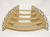 Porta Pirulito Escada Oval Flor MDF 3mm (35 furos) - Cod. 957