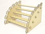 Porta Pirulito Escada Reta Coroa MDF 3mm (35 furos) - Cod. 1175