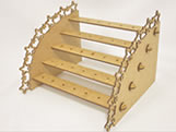 Porta Pirulito Escada Reta Estrela MDF 3mm (35 furos) - Cod. 985