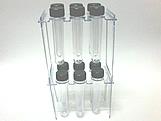 Suporte 12 Tubetes Cristal, Medidas: 15 x 9 x 27 cm
