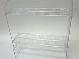 Suporte 24 Tubetes Cristal, Medidas: 28 x 9 x 30 cm