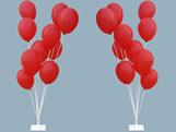 Suporte de Balões com Base de Ferro Ref.9471 Médio BWB, Medidas: 15 x 15 x 110 cm