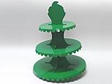 Suporte 3 Andares Verde Escuro, Medidas: 31 x 31 x 39 cm