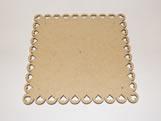 Tabua de Bolo Quadrada 30cm Coração MDF 3mm - Cod. 1122