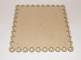 Tabua de Bolo Quadrada 30cm Estrela MDF 3mm - Cod. 1124