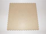 Tabua de Bolo Quadrada 30cm Margarida MDF 3mm - Cod. 1267