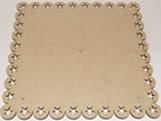 Tabua de Bolo Quadrada 40cm Estrela MDF 3mm - Cod. 1125