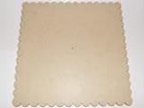 Tabua de Bolo Quadrada 40cm Margarida MDF 3mm - Cod. 1268