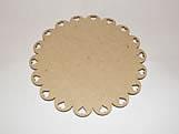 Tabua de Bolo Redonda 30cm Coração MDF 3mm - Cod. 1114