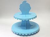 Suporte 2 Andares Azul Claro, Medidas: 26 x 26 x 27 cm