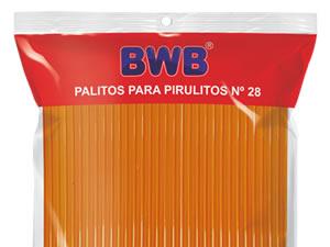 Canudo Palito para Pirulito Grande Laranja nº28 Ref.285 BWB