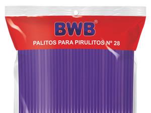 Canudo Palito para Pirulito Grande Roxo nº28 Ref.286 BWB