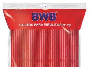 Canudo Palito para Pirulito Grande Vermelho nº28 Ref.290 BWB