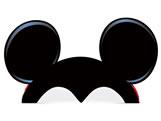 Acessório de Papel Orelhas Mickey Classico 08unid Regina Festas, Medidas: 28 x 13.4 cm