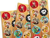 Adesivo Pirata Kids 30unid Festcolor