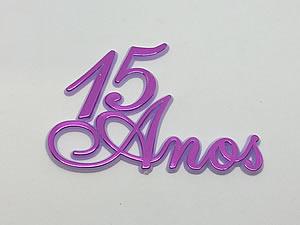 Aplique 15 Anos Lilas 5unid Ref.AC101