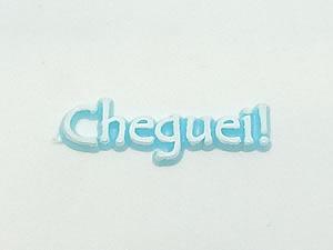 Aplique Cheguei Branco/Azul 10unid Ref.AC135