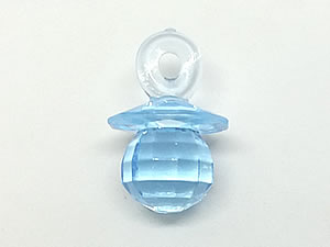 Aplique Chupeta Azul Translúcida 8unid Ref.AC128