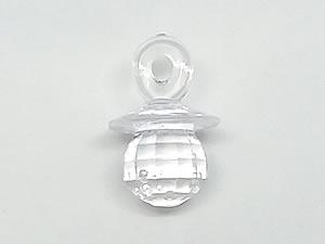 Aplique Chupeta Cristal Translúcida 8unid Ref.AC129