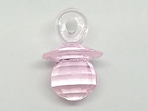 Aplique Chupeta Rosa Translúcida 8unid Ref.AC130