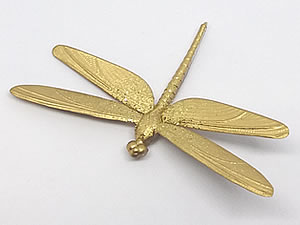 Aplique Libélula Brilhante Ouro 5unid Ref.AC116