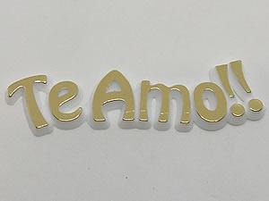 Aplique Te Amo Ouro/Branco 5unid Ref.AC123