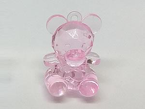 Aplique Ursa Rosa Translúcida 5unid Ref.AC124
