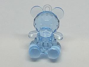 Aplique Urso Azul Translúcido 5unid Ref.AC125