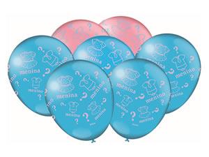 Bexiga Balão Latéx n9 Chá de Revelação 25unid Festcolor