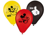 Bexiga Balão Latéx n9 Mickey Classico 25unid Regina Festas, Medidas: 9 polegadas cm