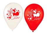 Bexiga Balão Latéx n9 Red Minnie 25unid Regina Festas