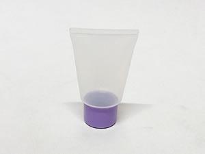 Bisnaga de Plástico 10g Natural com Tampa Lilas