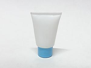 Bisnaga de Plástico 10g Branca com Tampa Azul Claro
