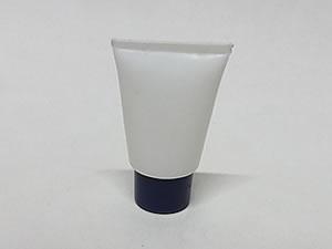 Bisnaga de Plástico 10g Branca com Tampa Azul Escuro