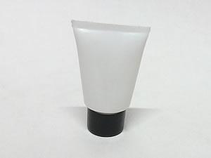 Bisnaga de Plástico 10g Branca com Tampa Preta