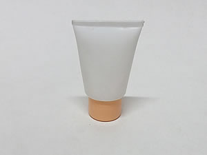 Bisnaga de Plástico 10g Branca com Tampa Salmão