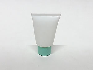 Bisnaga de Plástico 10g Branca com Tampa Verde Claro