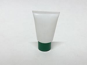 Bisnaga de Plástico 10g Branca com Tampa Verde Escuro
