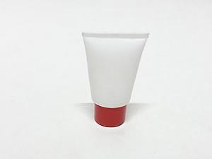 Bisnaga de Plástico 10g Branca com Tampa Vermelha