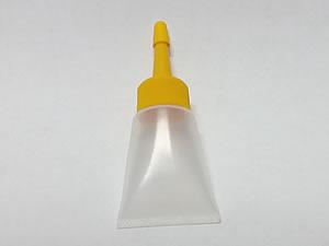 Bisnaga de Plástico 10g Natural com Bico Aplicador Amarelo