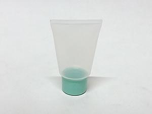 Bisnaga de Plástico 10g Natural com Tampa Verde Claro