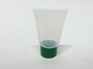 Bisnaga de Plástico 10g Natural com Tampa Verde Escuro