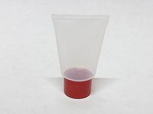 Bisnaga de Plástico 10g Natural com Tampa Vermelha